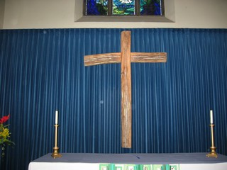 Wooden cross in St. Dunstan's Church, Canterbury